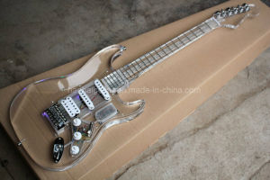 Hanhai Music/Acrylic Electric Guitar with 7 Colors LED Lights pictures & photos