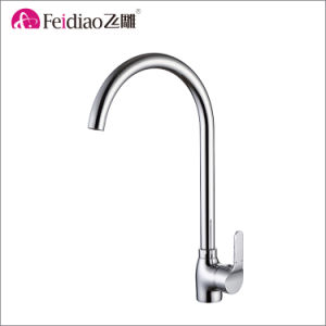 Competitive Price Chrome Plated Brass Single Handle Kitchen Faucet