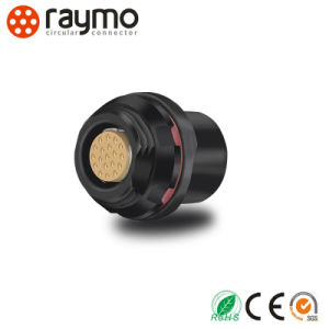Raymo 104 Seiries Waterproof 2 Pin 3pin 4pin 6 Pin 8pin 16pin 19pin Circular Socket Connector pictures & photos