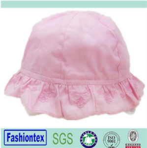 Baby Girl Summer Cotton Full Embroidered Bucket Summer Hat pictures & photos