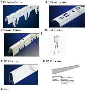 Accessories for Aluminum Ceiling Metal Ceiling Galv. Carrier Bolt&Nut pictures & photos
