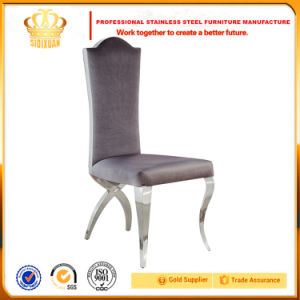 Latest Design X Legs Wedding Banquet Flannel Cushion Dining Chair for Sale pictures & photos
