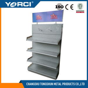 Perforated Supermarket Display Shelf with Good Quality pictures & photos