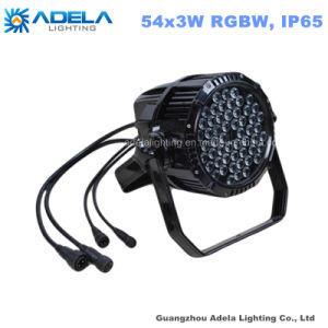 Waterproof 54X1w/3W RGBW LED PAR Outdoor IP65 Light pictures & photos