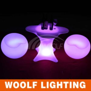 Plastic Coffee Table, LED Coffee Table, LED Light up Table