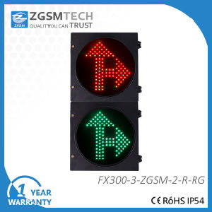 Red Green LED Arrow Traffic Light Go Straight and Turn Right