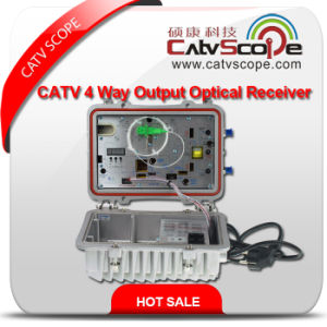 High Performance Agc Control Outdoor CATV 2 Way Output Optical Fiber Receiver