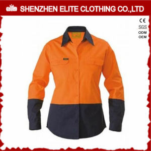 Fluorescent Orange Women Work Shirt with Reflective Tape pictures & photos
