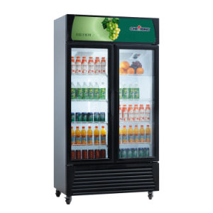 Cheering 500L Upright Display Showcase Refrigerator pictures & photos