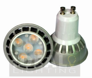 LED GU10 5W Spotlight 100-240VAC Silver