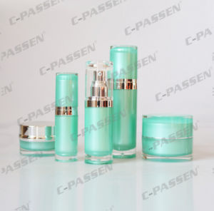 Green Acrylic Cream Lotion Bottle for Cosmetic Packaging (PPC-ALB-041) pictures & photos