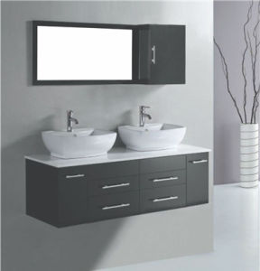 MDF Double Sink Bathroom Vanity Cabinet