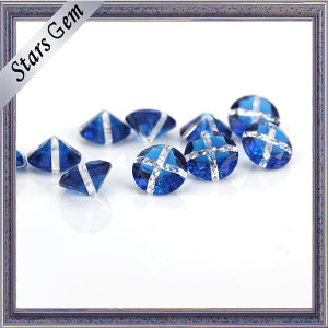 Blue and White Mixed Color Round Gemstone for Jewelry pictures & photos