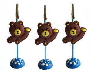 Lovely Bear Shape PVC Name Card Holder pictures & photos