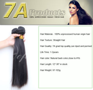 7A Grade Unprocessed Brazilian Virgin Human Hair Weft pictures & photos