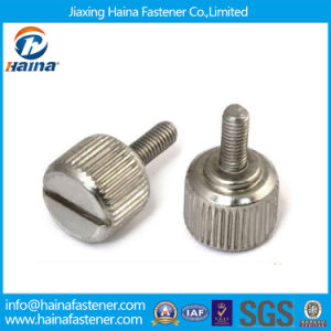 Slotted Knurled Head Thumb Screws pictures & photos