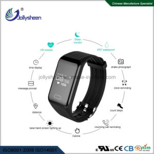2018hot Selling Continuous 24 Hours Monitoring Heart Rate Mult-Function Smart Bracelet in Line with Ce, RoHS, FCC Standard