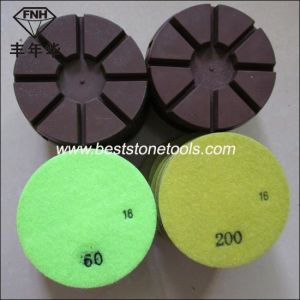 Cr-12 Resin Copper Metal Bond Diamond Polishing Pad 8 Pie