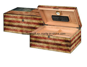 American Flag 100 Count Cigar Humidor pictures & photos