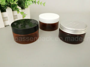 Amber Colored Pet Jar with Plastic and Aluminum Lid (PPC-ATC-0106) pictures & photos
