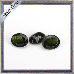 Hot Sale Stone Natural Cut Oval Shape Natural Diopside pictures & photos