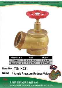 "Pressure Reduce Fire Hydrant Angle Valve: 2.5"" Bsp pictures & photos"