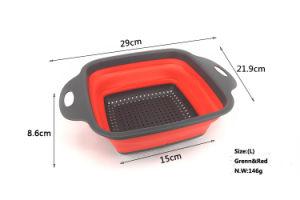 Over-the-Sink Collapsible Colander Basket