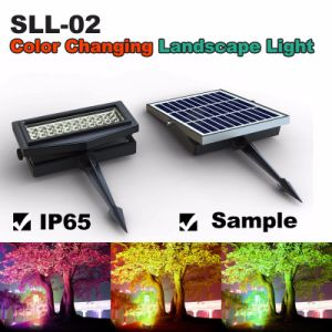 Beautiful LED Solar Garden Light Color Change RGB Wall Washer Flood Light for Decorating