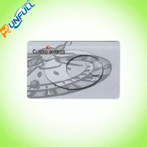 Plastic Transparent Business Cards with Hot Foiling pictures & photos