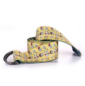 Double Ring Buckle Minions Jacquard Webbing Belt for Child Gift pictures & photos