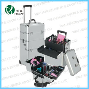 2017 New Professional Aluminum Trolley Cosmetic Makeup Case pictures & photos