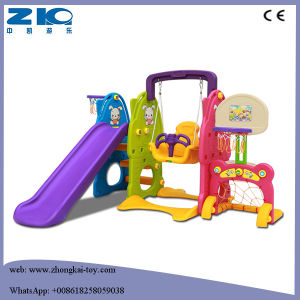 Children Plastic Slide and Swing Set pictures & photos
