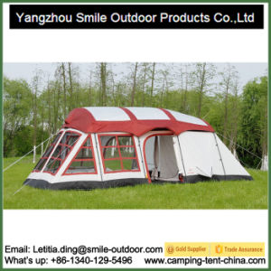 7df851e5101 China 8-10 Person 2 Bedrooms 1 Hall Waterproof Camping Family Tent ...