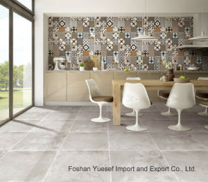 Rustic Tile Cement Look Decorative Porcelain 600x600mm