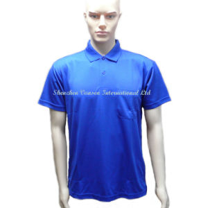 Blue Male Dry Fit Sports Polo Shirt for Knitted Clothes pictures & photos