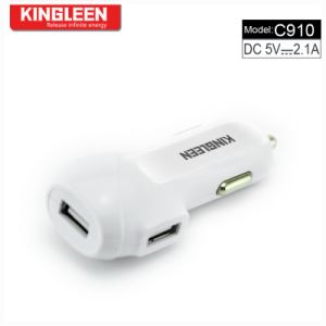 Kingleen C910 Dual USB Intelligent Battery Car Charger 5V2.1A Hot Sale