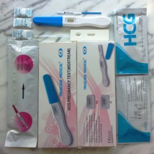 Rapid HCG Pregnancy Test (strip/ cassette/ midstream) with CE & ISO Certificated pictures & photos