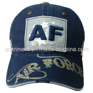 Washed Distressed Printing Applique Embroidery Baseball Cap (TMB1932) pictures & photos