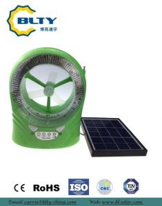 2017 DC Rechargeable Solar Table Fan pictures & photos