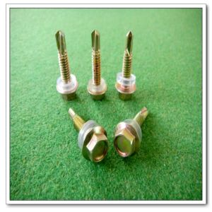 Hex Head Cross Recess Self Drilling Screw (DIN7504 (5.5*35))