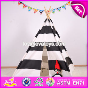 Classic Indian Cotton Kids Play Tent High Quality Indoor Wooden Poles Kids Play Tent W08L003 pictures & photos