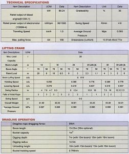 China Dragline Excavator 20 (Specification) - China Dragline