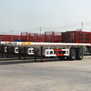 Hot Seller 2 Axles 40ft and 20ft Container Flatbed Trailer
