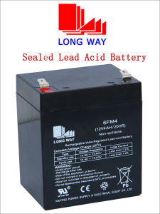 12V4ah Lead Acid Sound Equipment Soalr UPS Rechargeable Battery pictures & photos