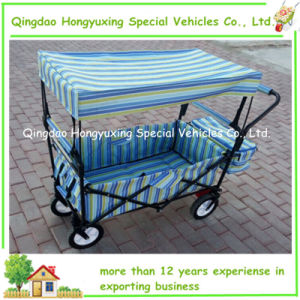 Popular Folding Wagon Toys with Brake and Colorful Cloth Bag (TC0432)