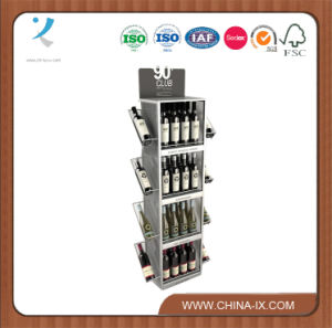 OEM Custom Design Floor Wine Bottle Stand for Wine Store