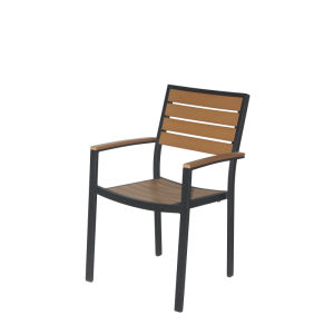 Outdoor Plastic Wood Aluminum/Alloy Dining Chair (PWC-15521) pictures & photos