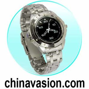 Stylish Hidden Watch Camera with Stainless Steel Strap (DVR)