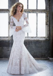 Lace Vintage Wedding Dress.Latest 2018 Vintage Lace Long Sleeve Wedding Dress