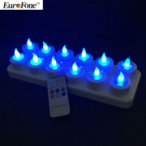 12PCS Remote Control LED Full Rechargeable Candle Light pictures & photos